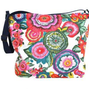 Carolina Extra Large Cross Body Zip Top Bag – Anemone