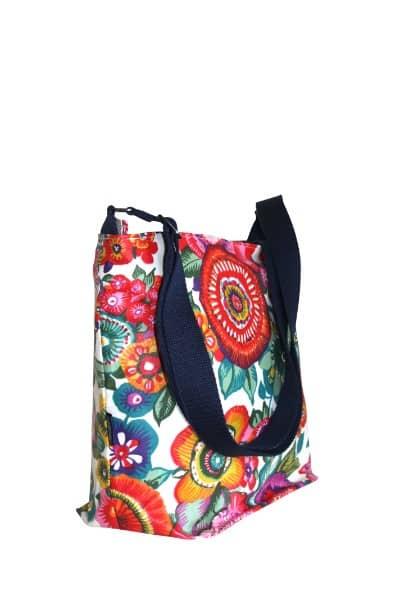 Fely Medium Cross Body Zip Top Bag - Anemone