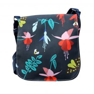 Fiona Small Messenger Bag – Blue Fuchsia
