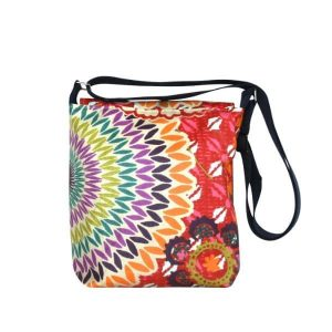 Fiona Small Messenger Bag – Funky Red