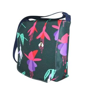 Fiona Small Messenger Bag – Green Fuchsia