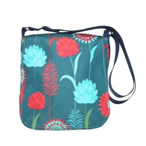 Fiona Small Messenger Bag – Green Meadow