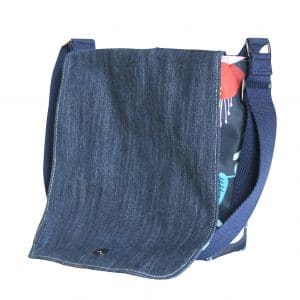 Fiona Small Messenger Bag – Blue Fuchsia