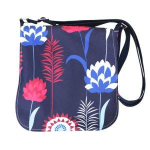 Fiona Small Messenger Bag – Blue Meadow
