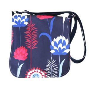 Fiona Small Messenger Bag – Blue Meadow