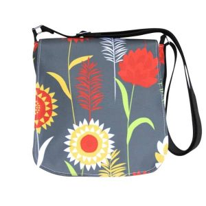 Fiona Small Messenger Bag – Grey Meadow