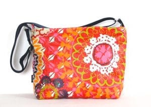 Fely Medium Cross Body Zip Top Bag – Funky Red