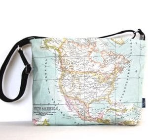 Fely Medium Cross Body Zip Top Bag – Old Map