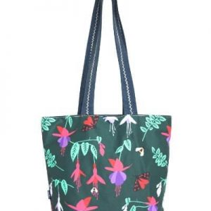 Kate Reversible Beach Tote Bag – Green Fuchsia