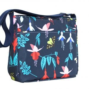 Clare Large Messenger Bag – Blue Fuchsia
