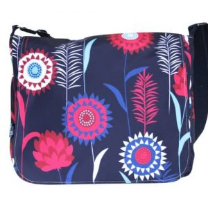 Clare Large Messenger Bag – Blue Meadow