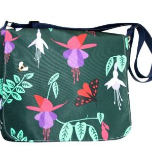 Clare Large Messenger Bag – Green Fuchsia