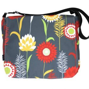 Clare Large Messenger Bag – Grey Meadow