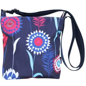 Amy Small Cross Body Zip Top Bag – Blue Meadow