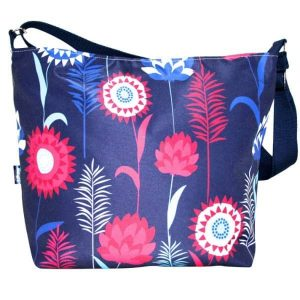 Tara Large Cross Body Bag- Blue Meadow