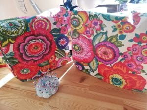 Clare Messenger Bags in Anemone fabric