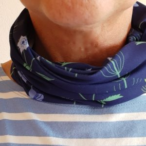 Neckband – Blue Burren Fabric