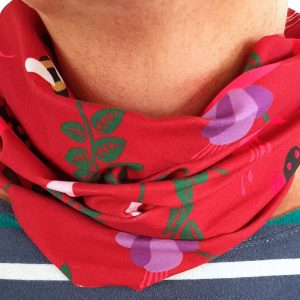 Neckband – Red Fuchsia Fabric
