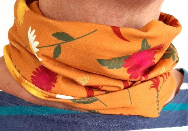Orange Daisy Neckband