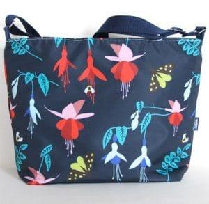 Fely Medium Cross Body Zip Top Bag – Blue Fuchsia