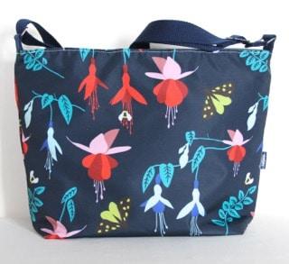 Fely Medium Zip Top Handbag in Blue Fuchsia