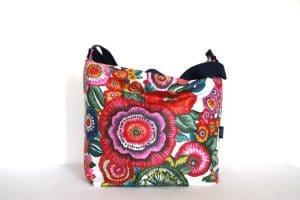 Tara Large Zip Top Handbag in Anemone