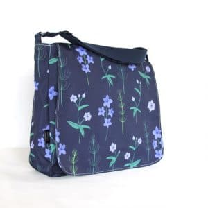 Clare Large Messenger Bag – Blue Burren