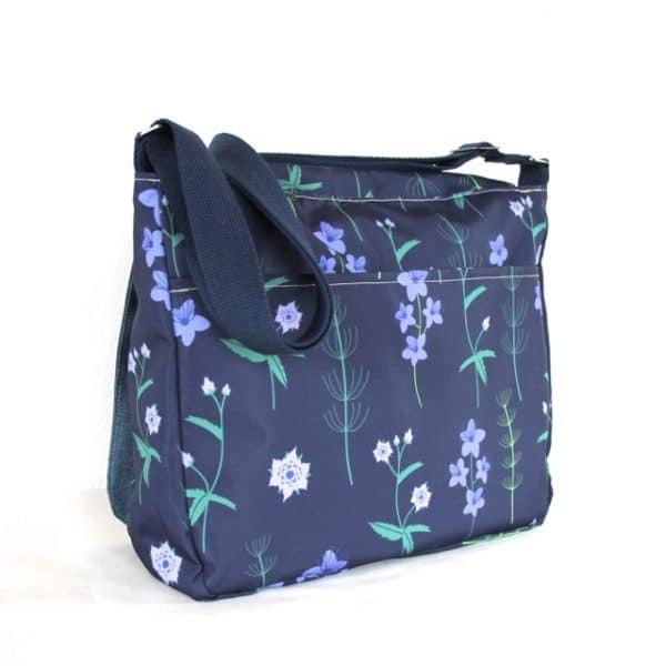 Clare Large Messenger Handbag in Blue Burren