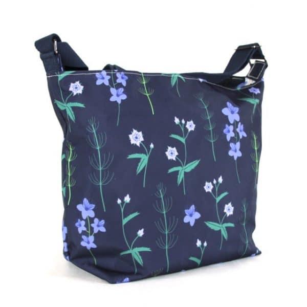 Fely Medium Zip Top Handbag in Blue Burren