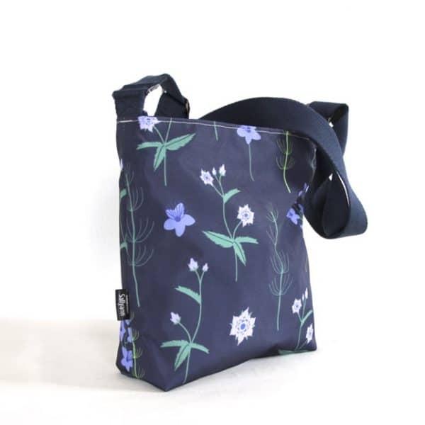 Amy Small Zip Top Handbag in Blue Burren