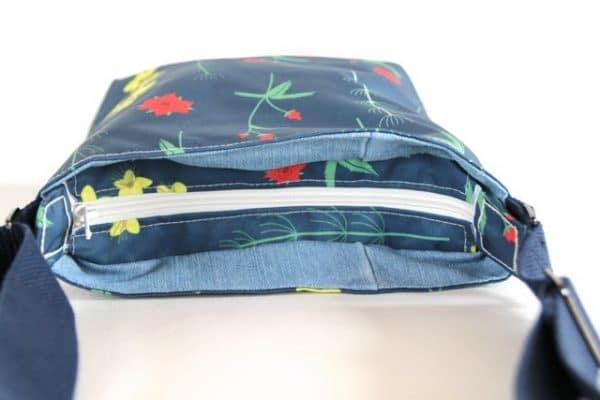 Amy Small Zip Top Handbag in Red Burren