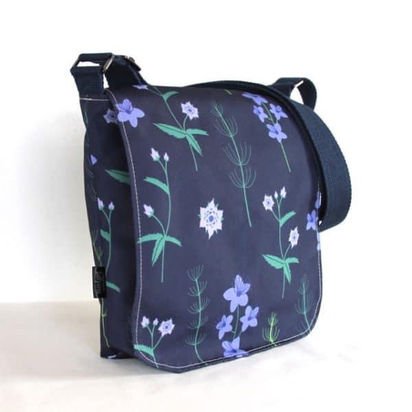 Fiona Small Messenger Handbag in Blue Burren
