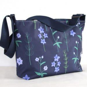 Fely Medium Cross Body Zip Top Bag – Blue Burren