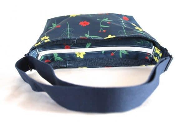 Fely Medium Zip Top Handbag in Red Burren