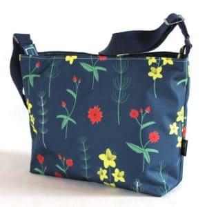 Fely Medium Cross Body Zip Top Bag – Red Burren