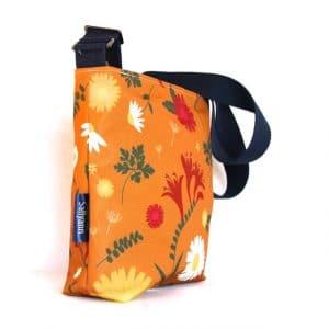 Amy Small Cross Body Zip Top Bag – Orange Daisy