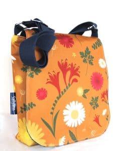 Fiona Small Messenger Handbag in Orange Daisy