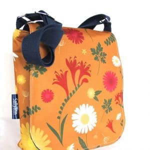 Fiona Small Messenger Bag – Orange Daisy
