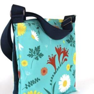 Fiona Small Messenger Bag – Blue Daisy