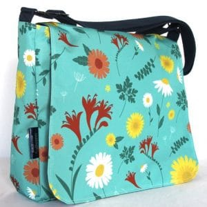 Clare Large Messenger Bag – Blue Daisy