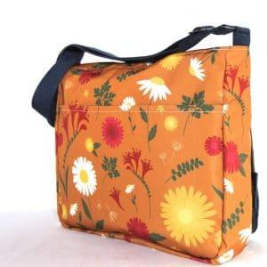 Clare Large Messenger Bag – Orange Daisy