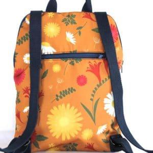 Marie Backpack – Orange Daisy