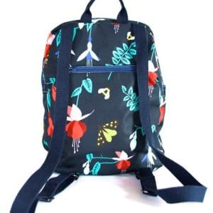 Marie Backpack – Blue Fuchsia Fabric