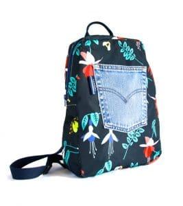 Marie Medium Backpack in Blue Fuchsia