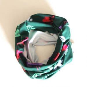 Neckband – Green Fuchsia Fabric