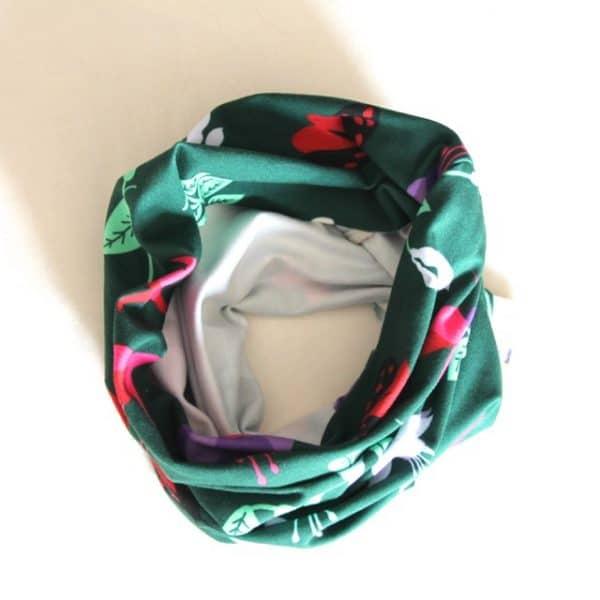 Neckband in Green Fuchsia