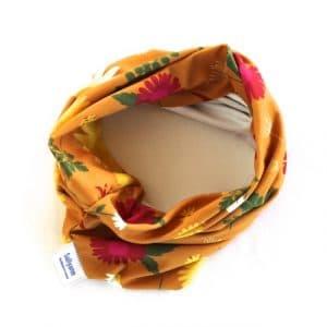 Neckband – Orange Daisy Fabric