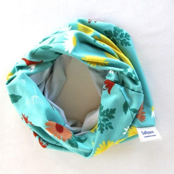 Neckband in Blue Daisy