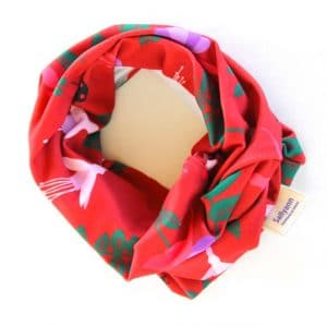 Neckband – Red Fuchsia Fabric