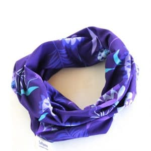 Neckband – Purple Meadow Fabric